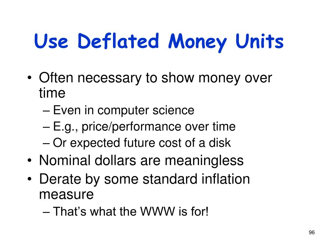 Use Deflated Money Units