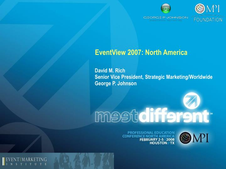 Eventview 2007 north america