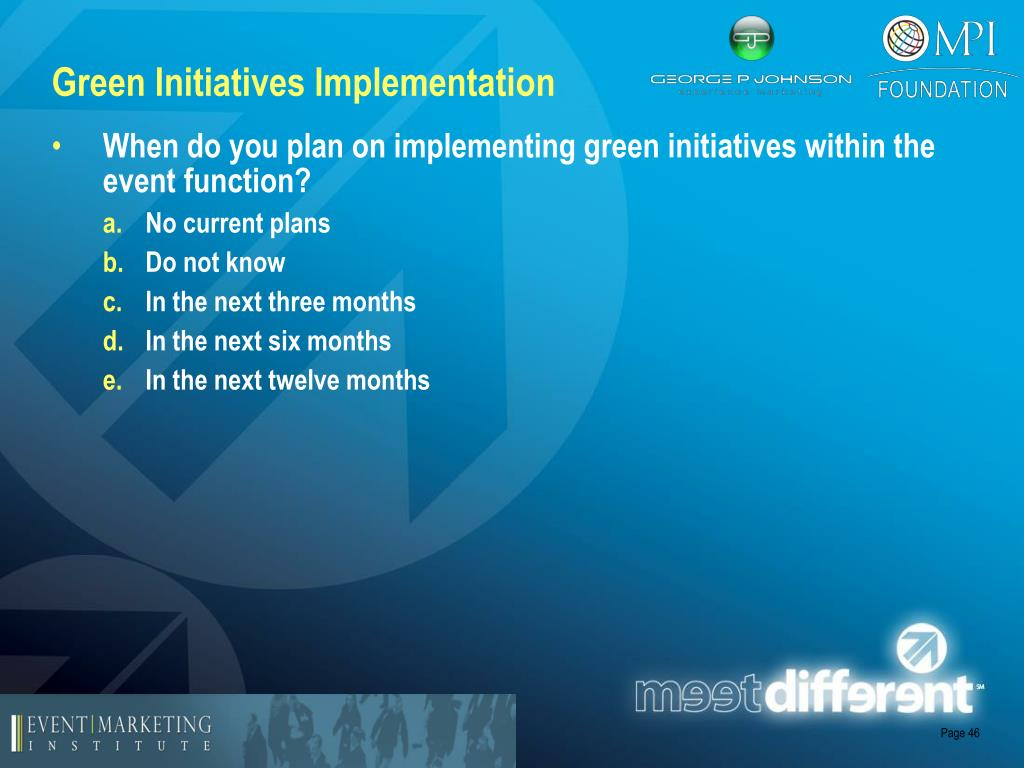 Green Initiatives Implementation