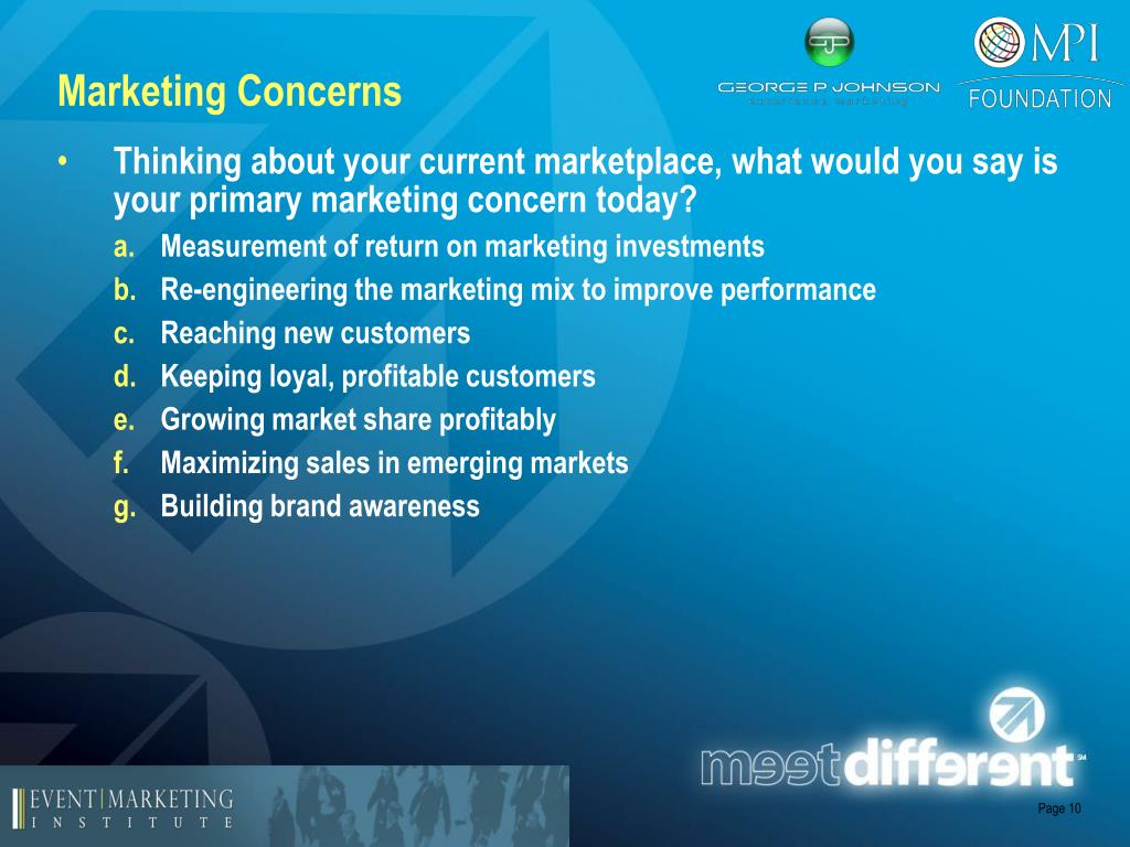 Marketing Concerns