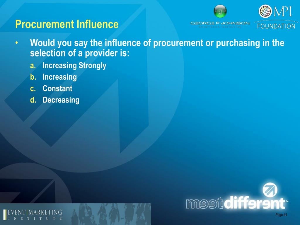 Procurement Influence