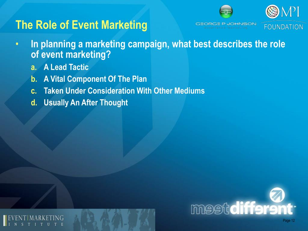 The Role of Event Marketing