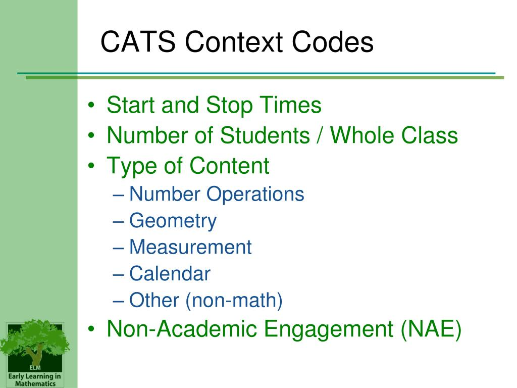 CATS Context Codes