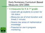 early numeracy curriculum based measures en cbm