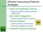 effective instructional delivery strategies