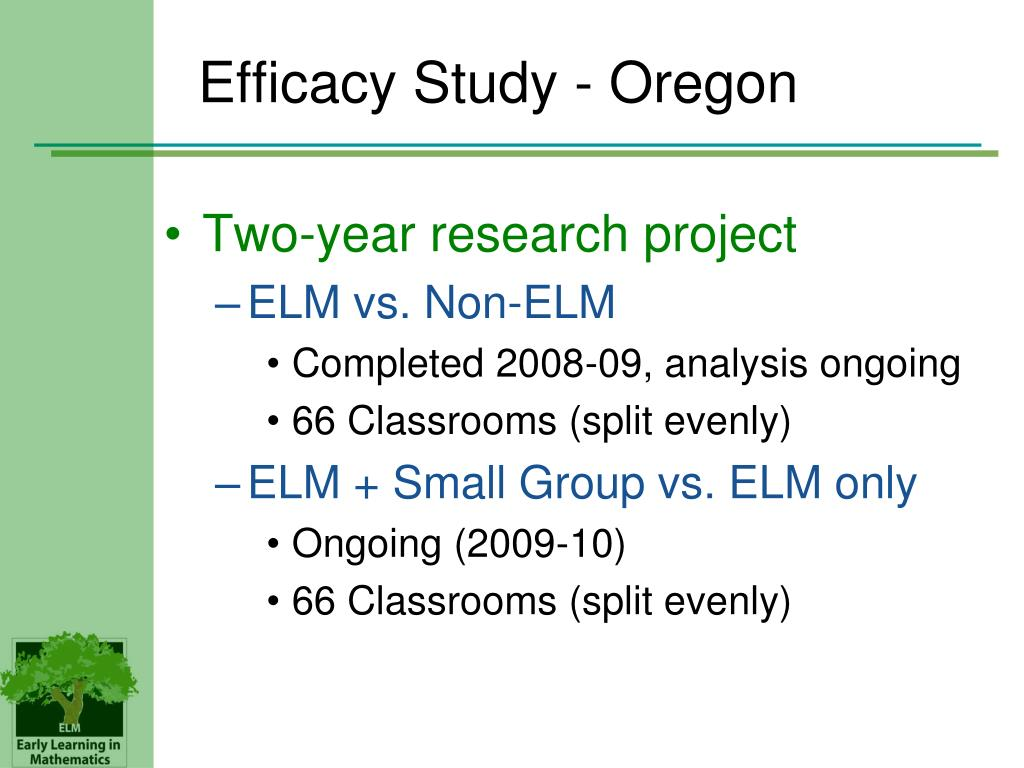 Efficacy Study - Oregon