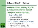 efficacy study texas