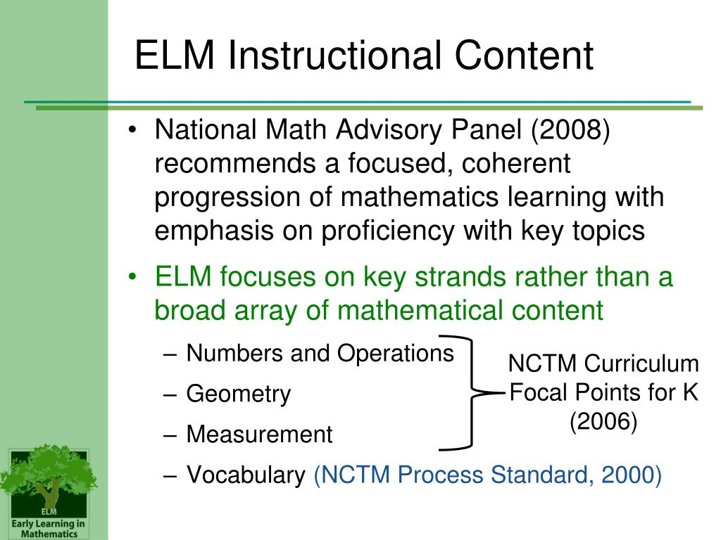 ELM Instructional Content