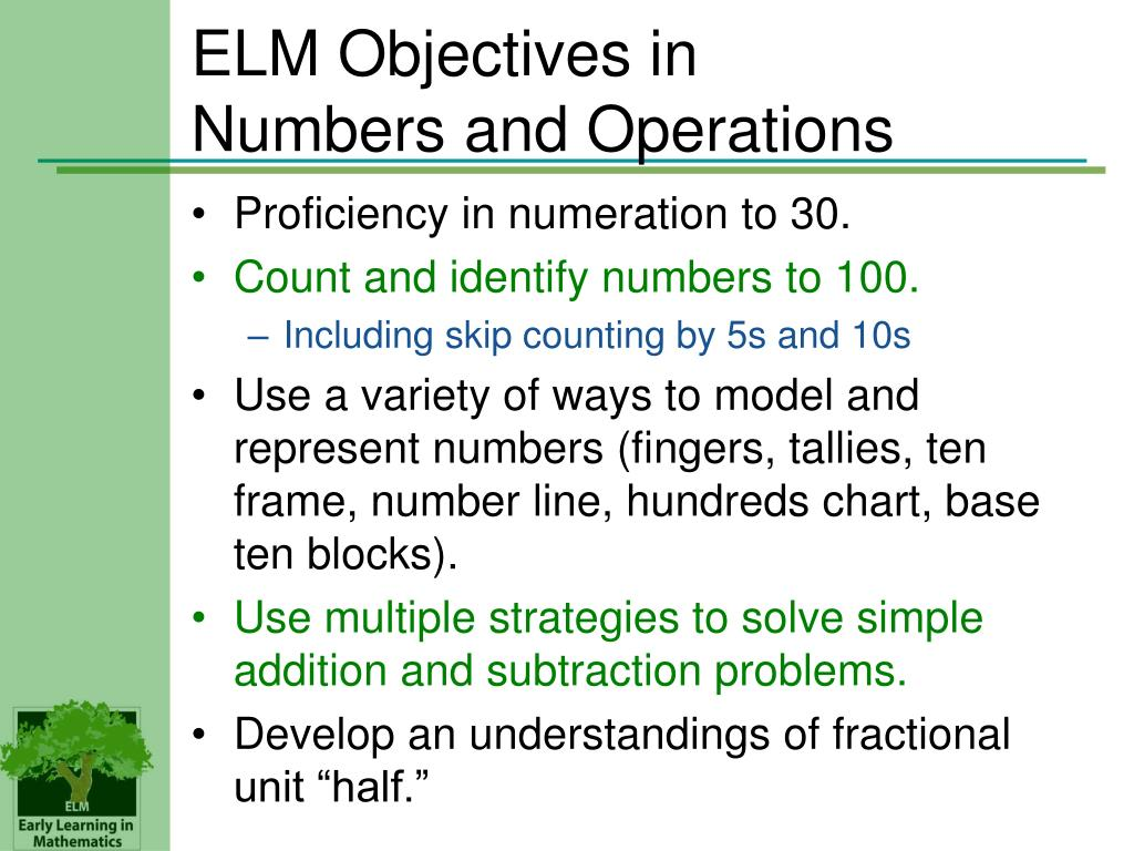 ELM Objectives in