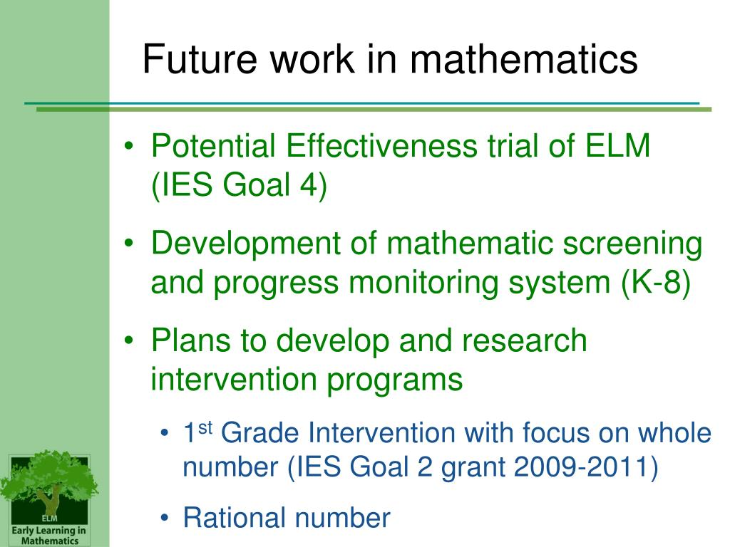 Future work in mathematics