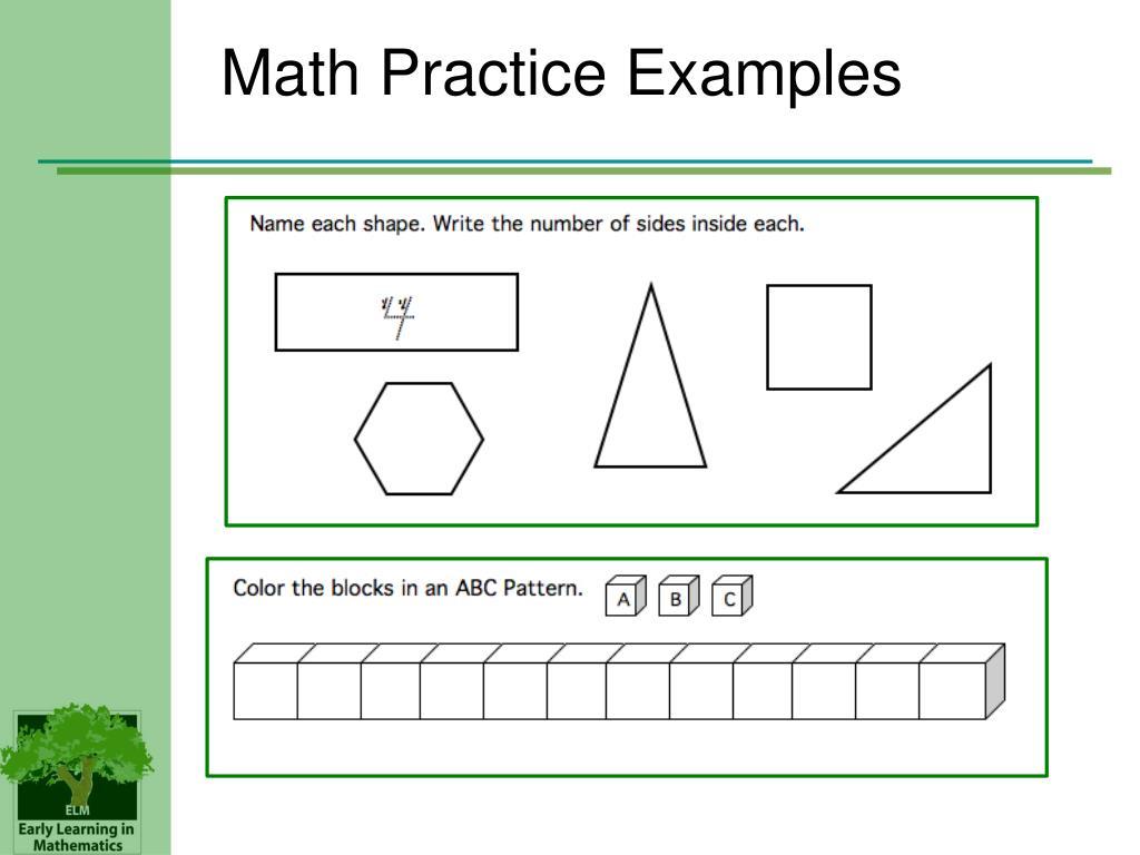 Math Practice Examples