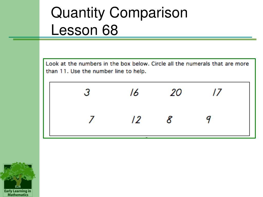 Quantity Comparison