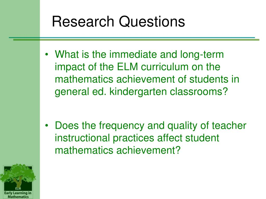 What is the immediate and long-term impact of the ELM curriculum on the mathematics achievement of students in general ed. kindergarten classrooms?