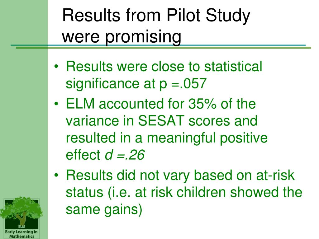 Results from Pilot Study