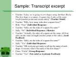 sample transcript excerpt