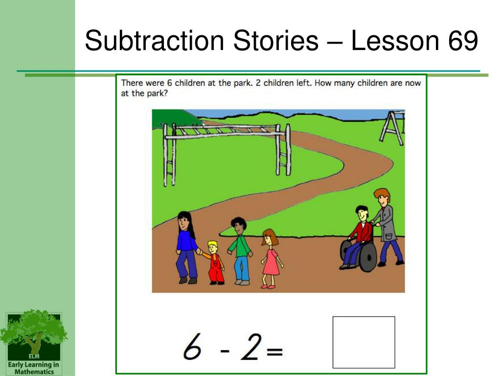 Subtraction Stories – Lesson 69