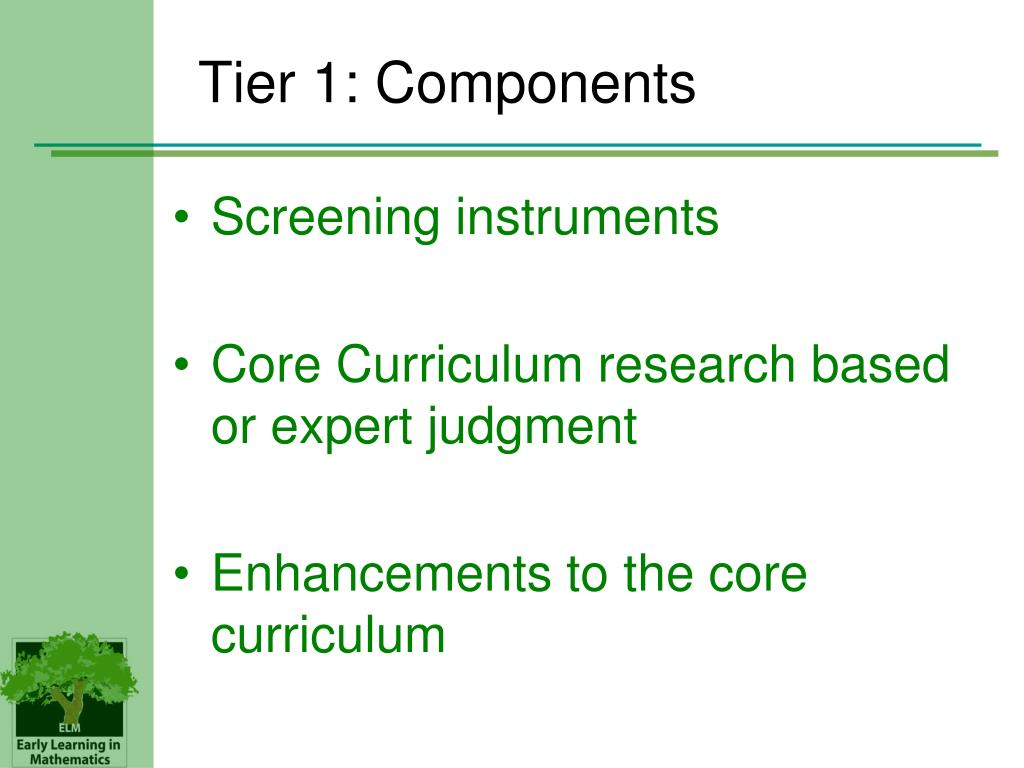 Tier 1: Components