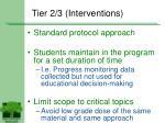tier 2 3 interventions