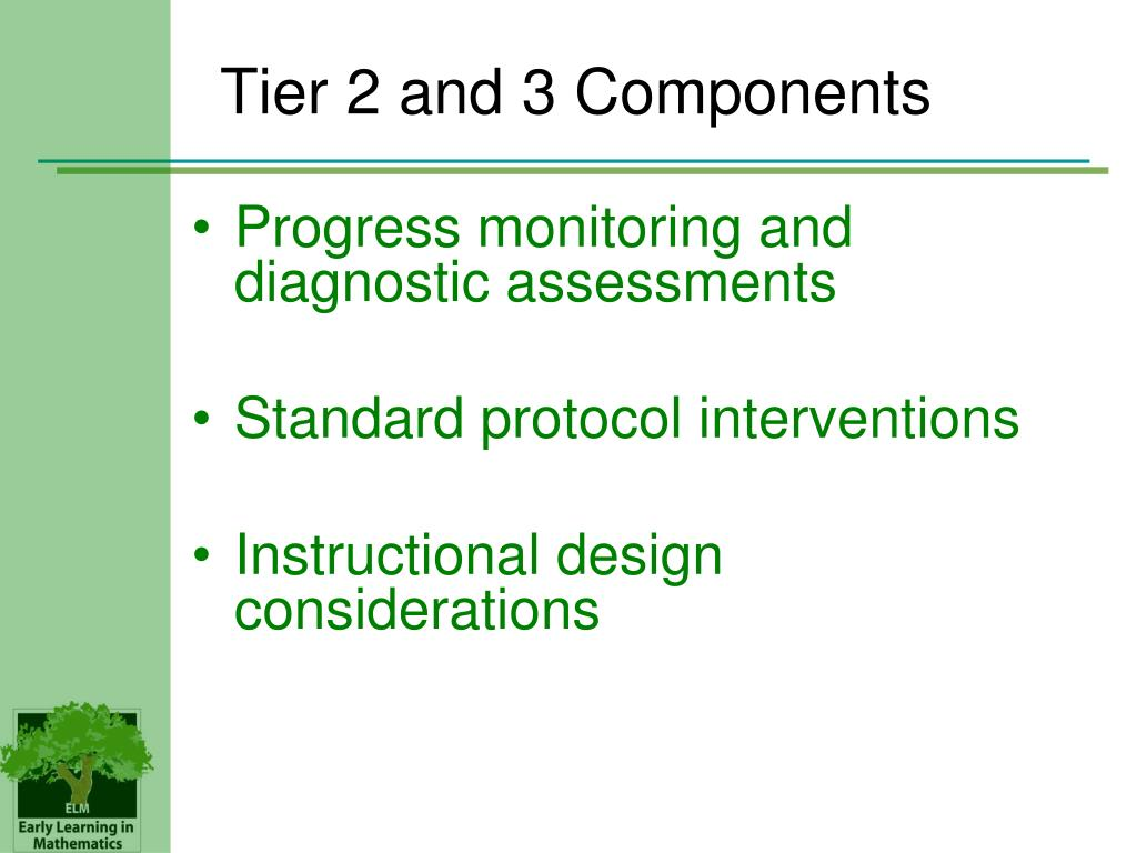 Tier 2 and 3 Components