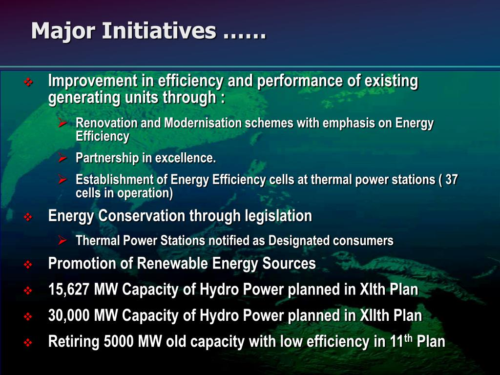 Improvement in efficiency and performance of existing generating units through :