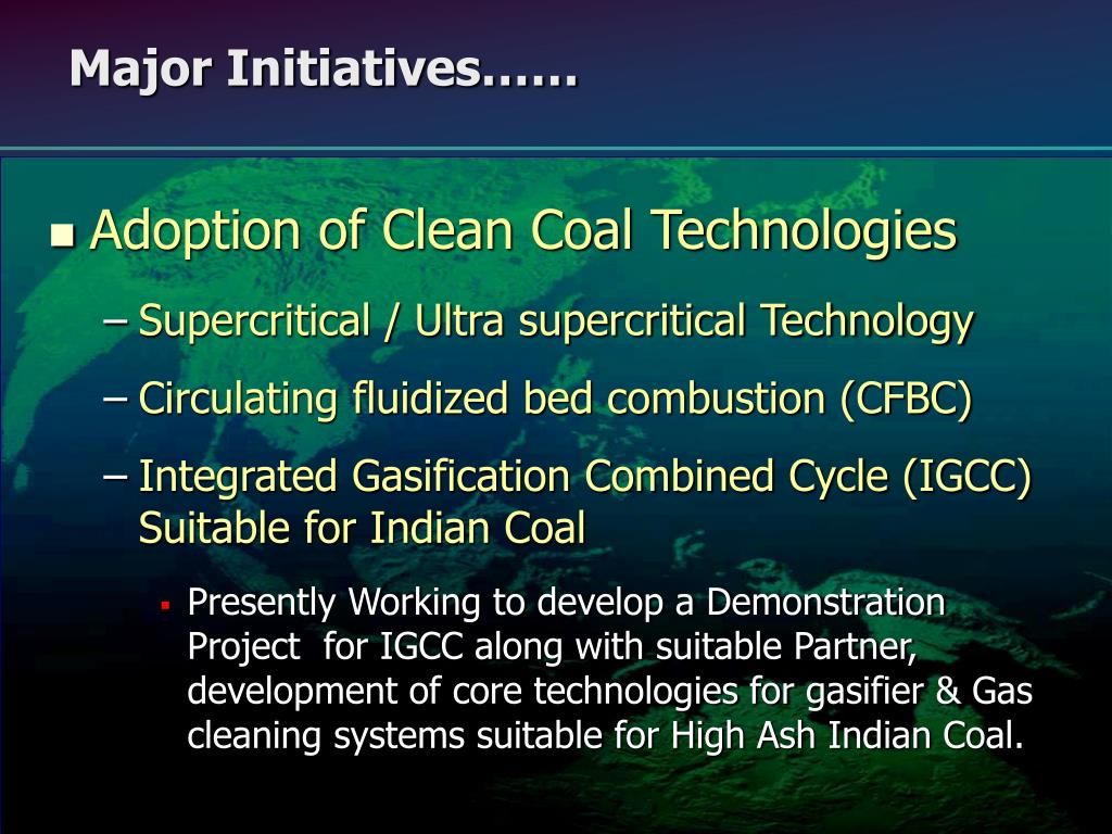 Adoption of Clean Coal Technologies
