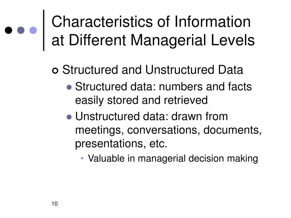 Characteristics of Information