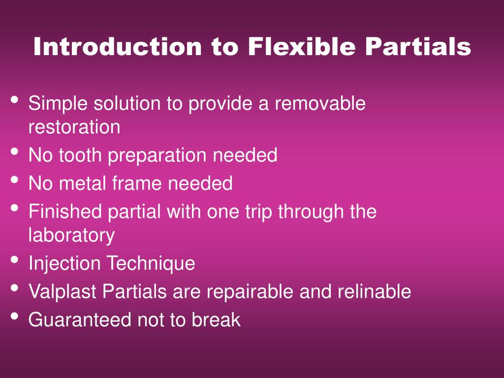 Introduction to Flexible Partials