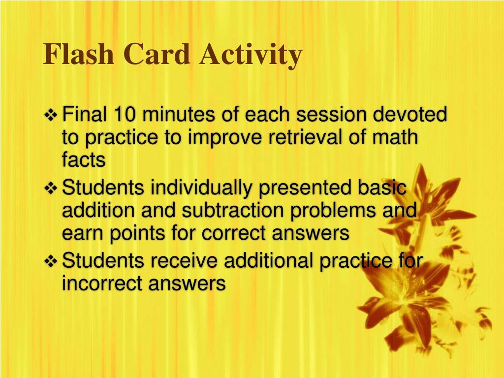 Flash Card Activity