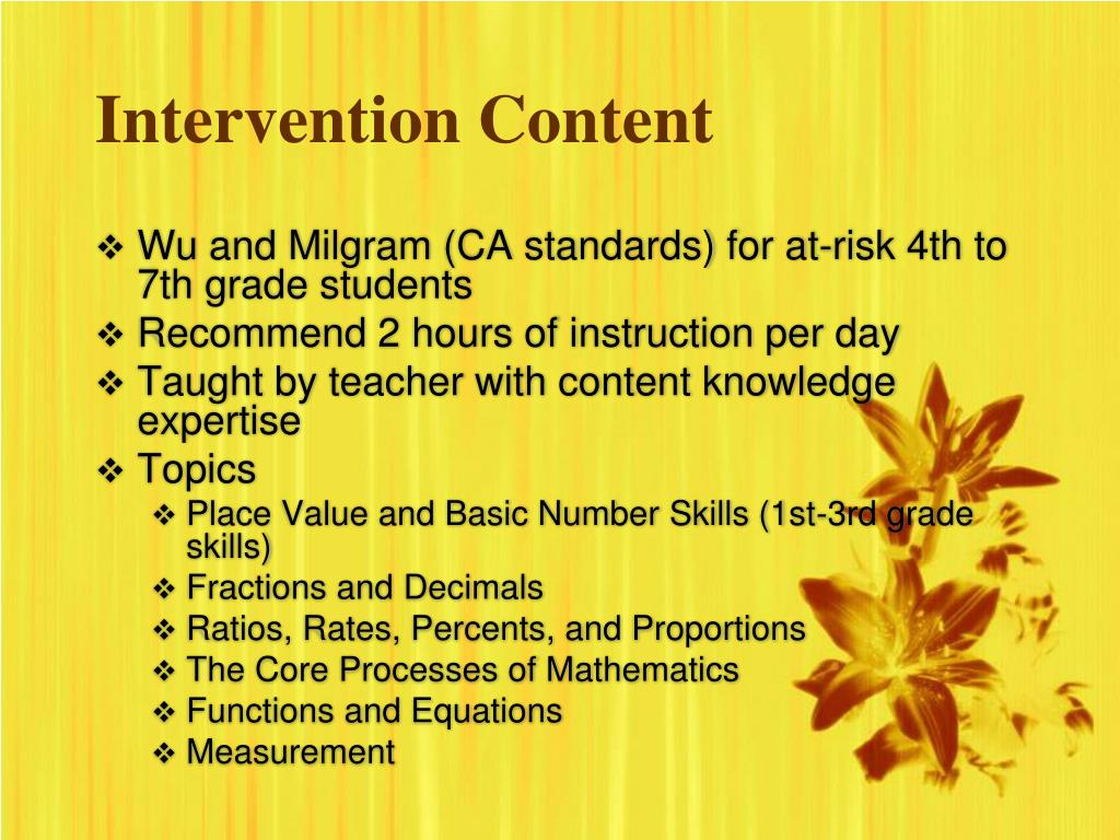 Intervention Content