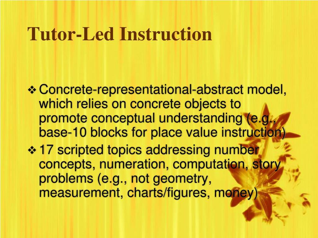 Tutor-Led Instruction