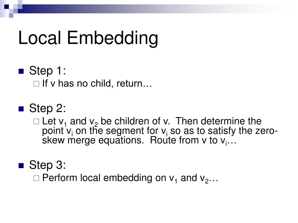Local Embedding