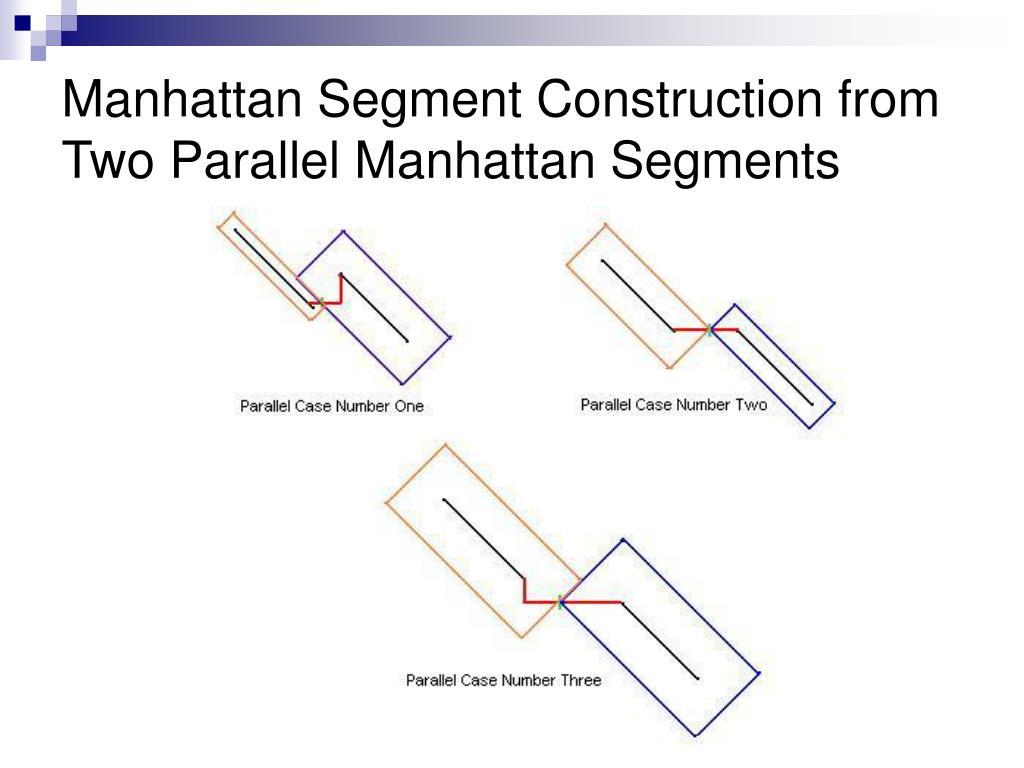 Manhattan Segment Construction from Two Parallel Manhattan Segments