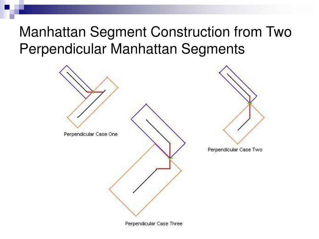 Manhattan Segment Construction from Two Perpendicular Manhattan Segments