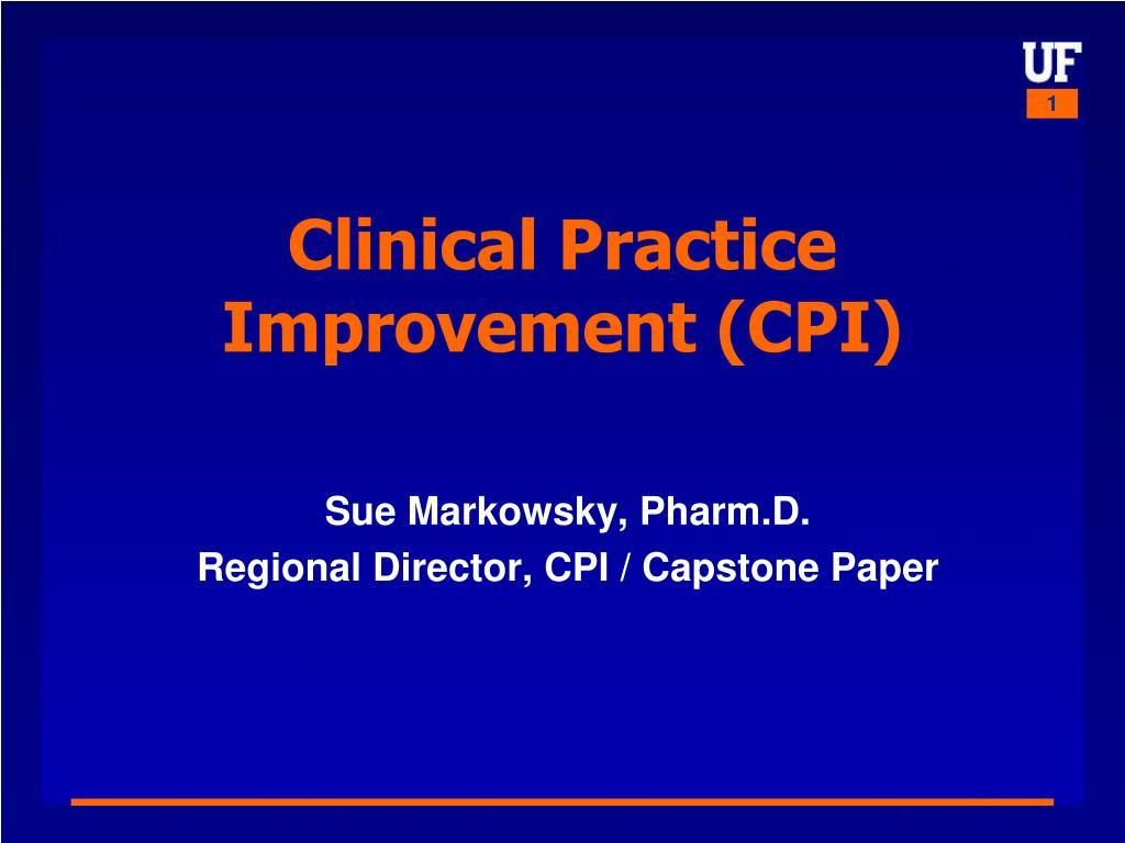 Clinical Practice Improvement (CPI)