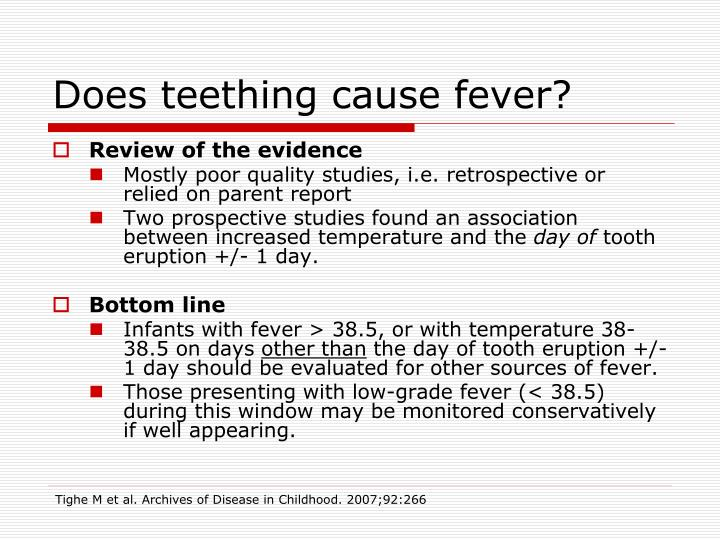 Does teething cause fever?