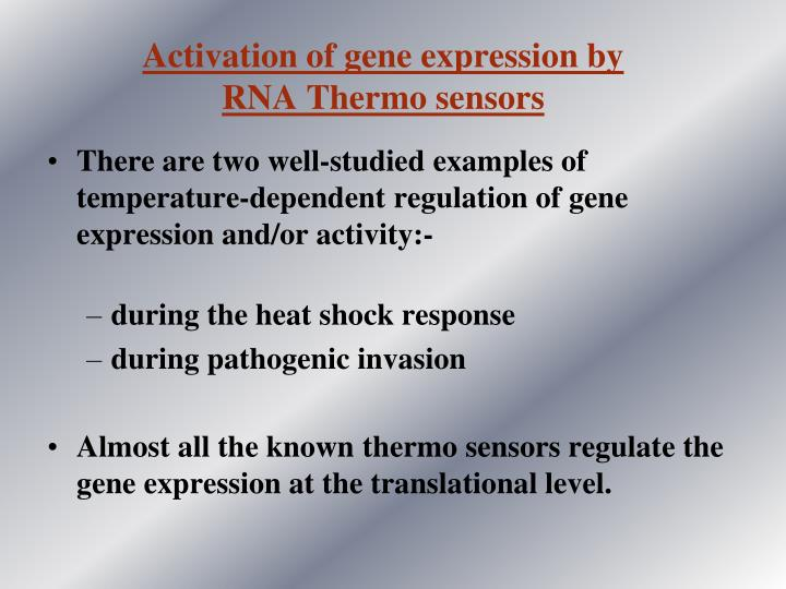 Activation of gene expression by