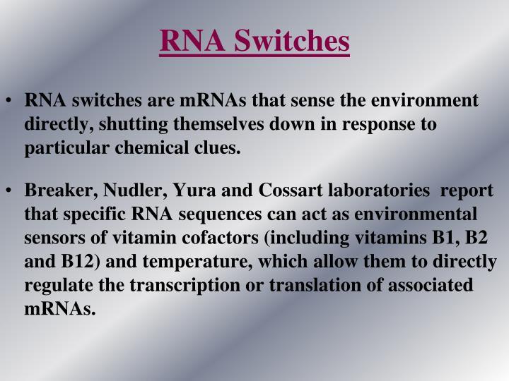 RNA Switches