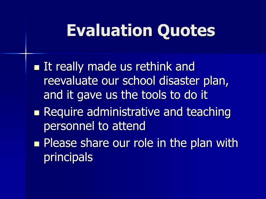 Evaluation Quotes