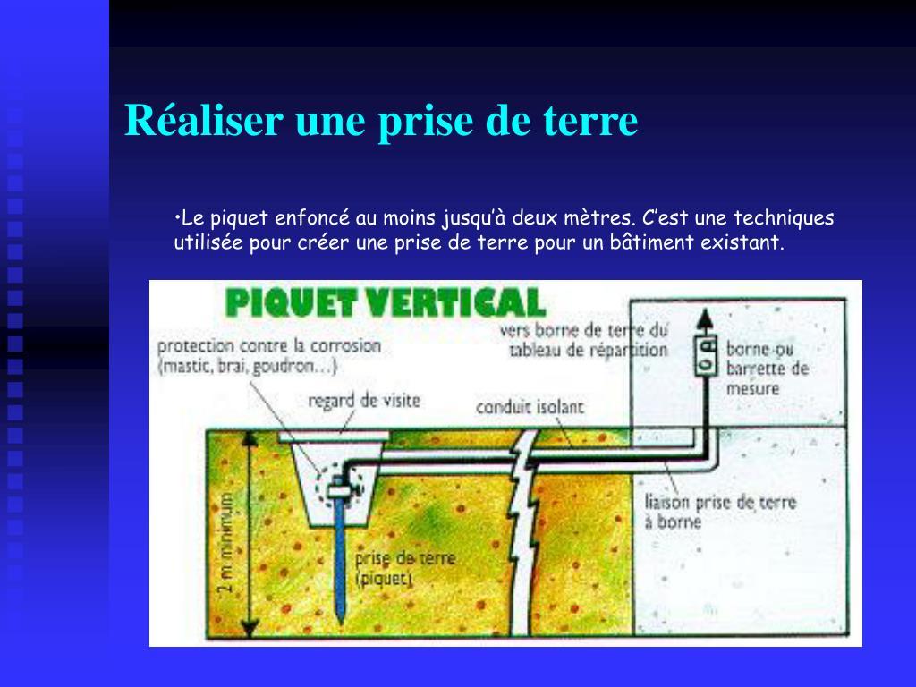 Ppt les sch mas de liaison la terre powerpoint presentation id 249977 - Installer une prise de terre ...