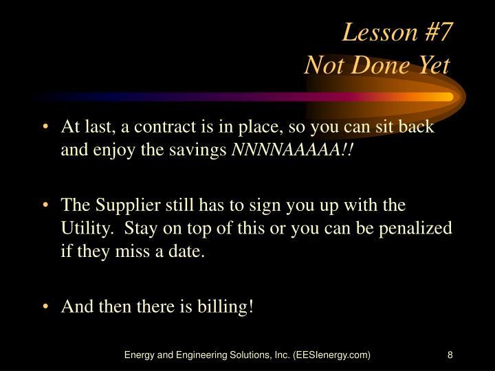 Lesson #7