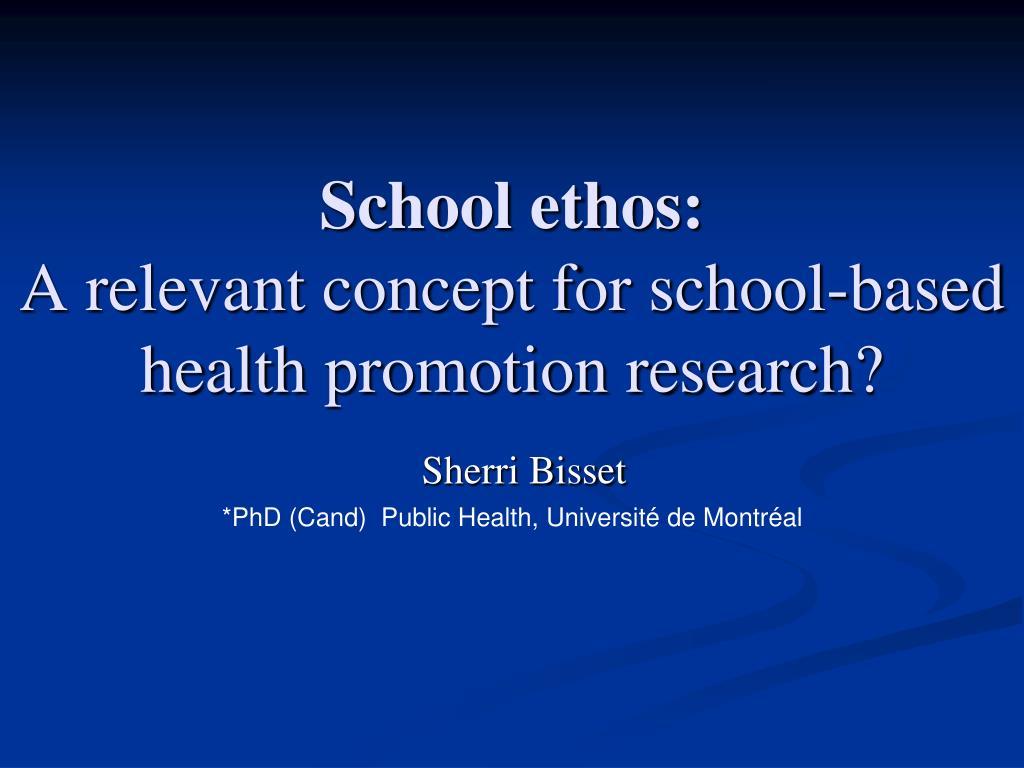 School ethos: