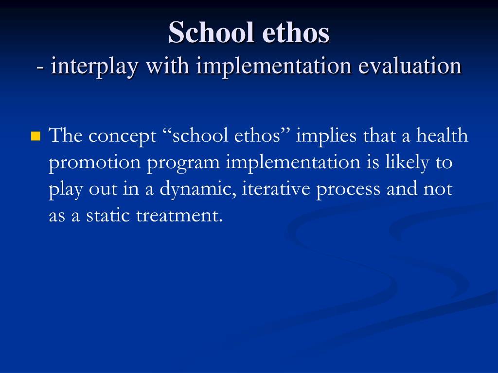 School ethos
