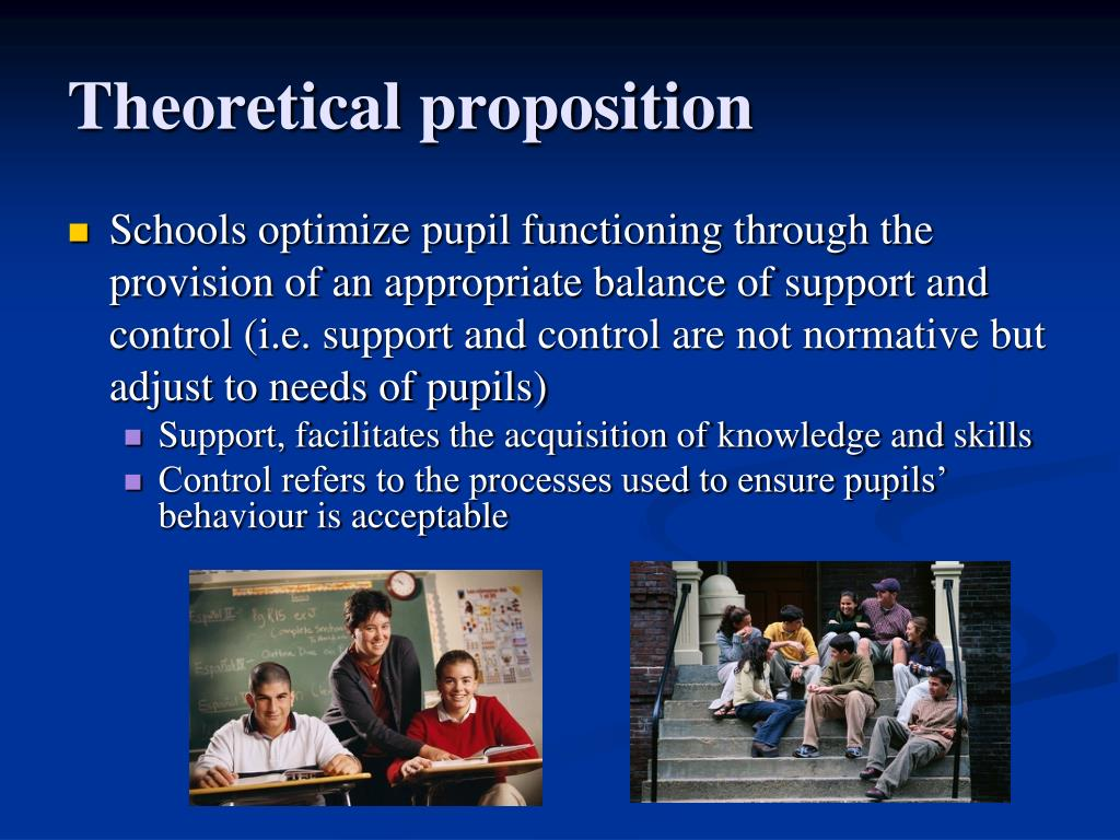 Theoretical proposition