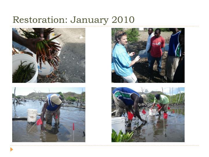 Restoration: January 2010