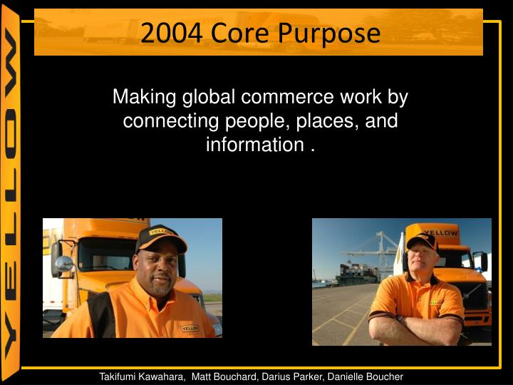 Making global commerce work by connecting people, places, and information .