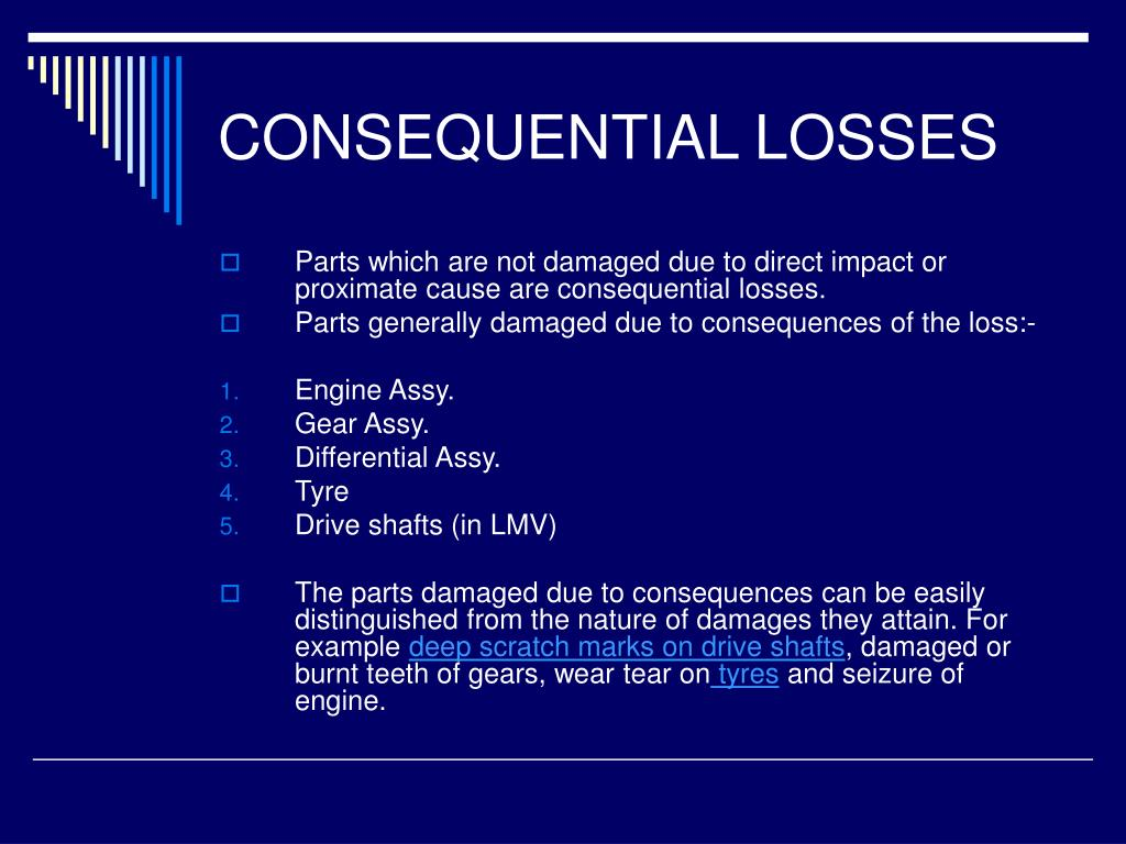 CONSEQUENTIAL LOSSES