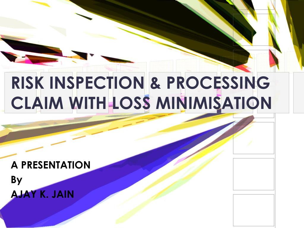 RISK INSPECTION & PROCESSING CLAIM WITH LOSS MINIMISATION