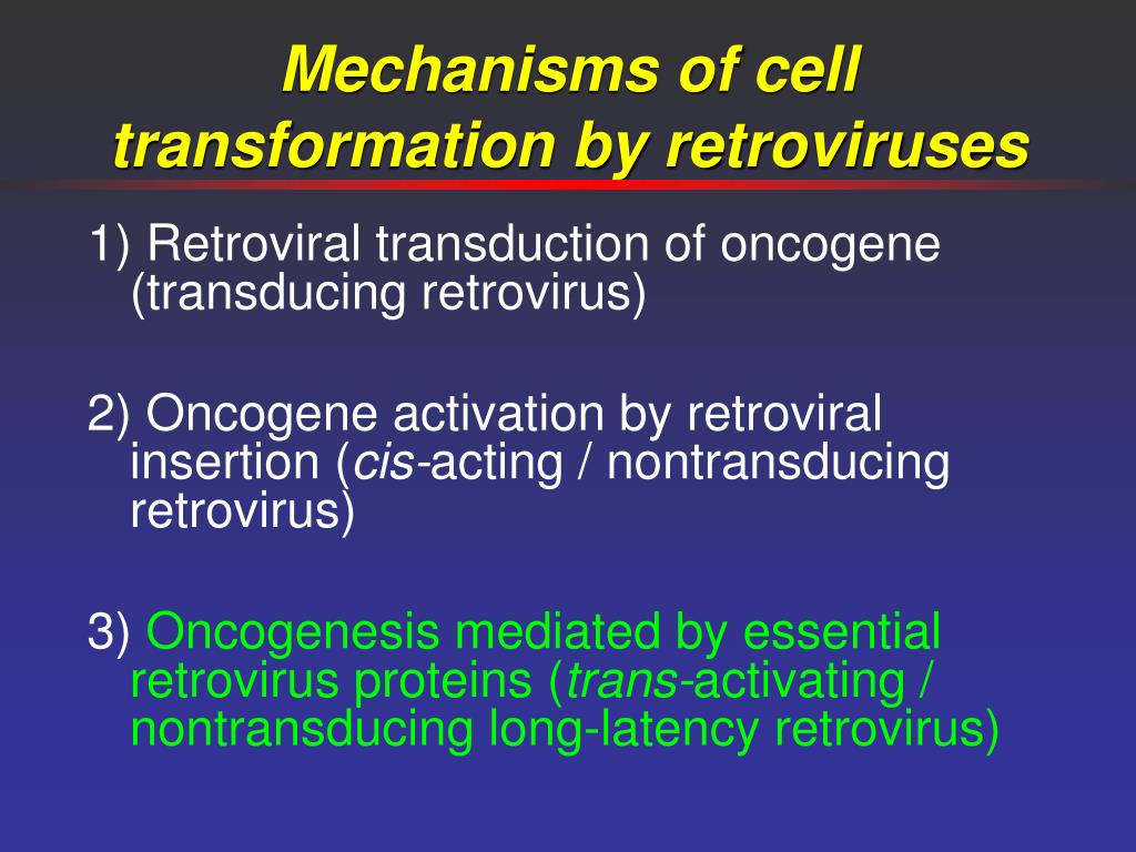 Mechanisms of cell transformation by retroviruses