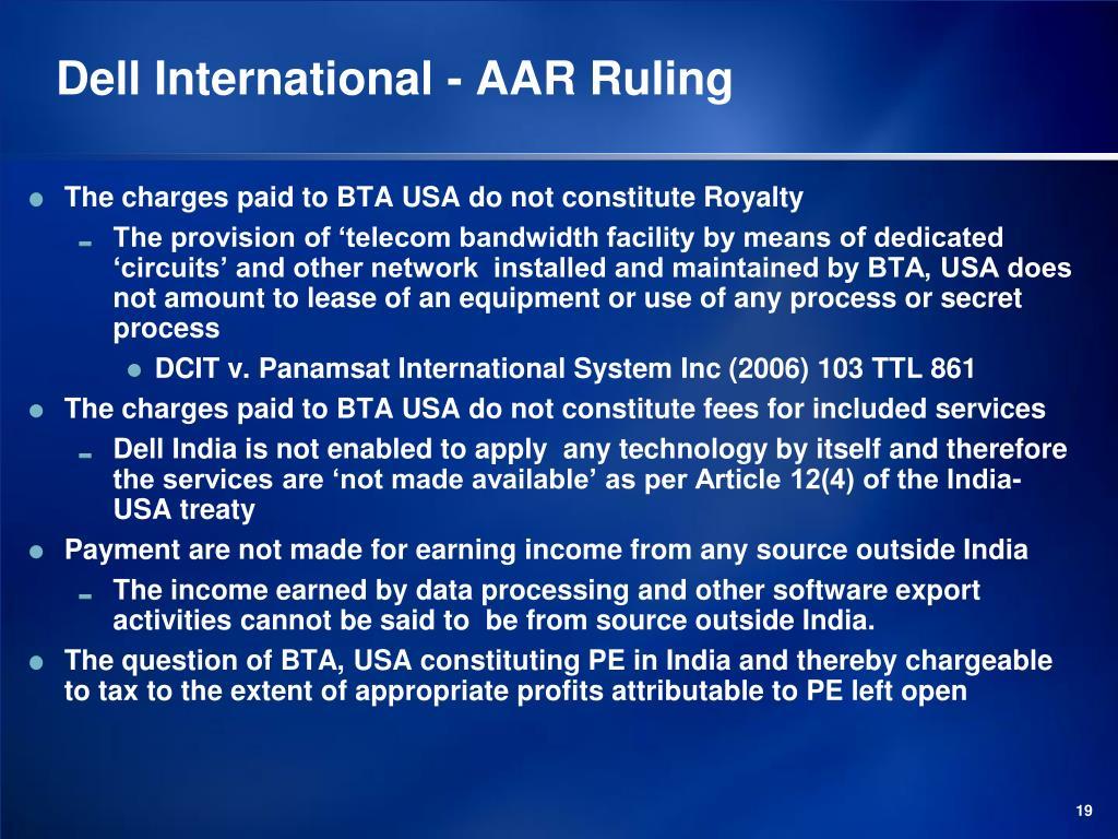 Dell International - AAR Ruling