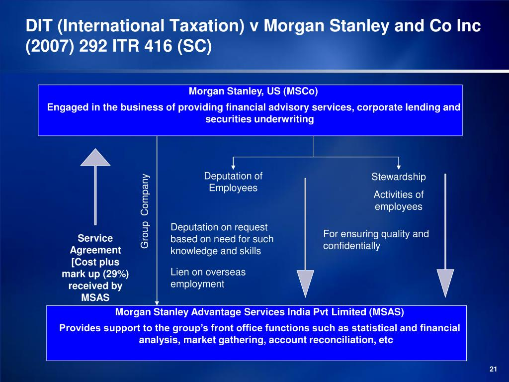 DIT (International Taxation) v Morgan Stanley and Co Inc (2007) 292 ITR 416 (SC)